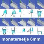 Exa-Lent Universal MON-6 Monstersetje - douchestrippen 6mm